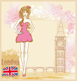 Beautiful woman in London Stock Images