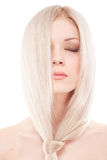 Beautiful woman with long blond hair Royalty Free Stock Images