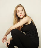 Beautiful woman with long blond hair. Royalty Free Stock Photo