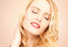 Beautiful woman with long blonde hair Royalty Free Stock Photos