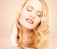 Beautiful woman with long blonde hair Stock Image