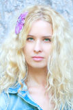Beautiful woman with long curly hair Royalty Free Stock Photo