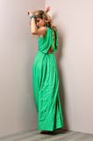 Beautiful woman in a long dress. Stock Images