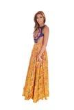 Beautiful woman in long dress. Stock Photo