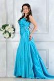 Beautiful woman in long evening dress Royalty Free Stock Photos