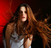 Beautiful  woman with long flowing hair Royalty Free Stock Image