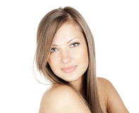 Beautiful woman . long hair Stock Photography