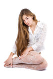 Beautiful woman with long hair Stock Image