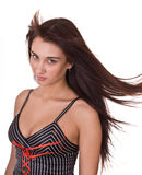 Beautiful woman with long hair. Royalty Free Stock Photo