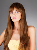 Beautiful woman with long  hair Royalty Free Stock Image