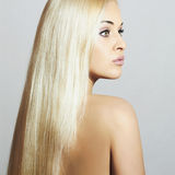 Beautiful Woman with long hair. Beauty Sexy Blond Girl Royalty Free Stock Images