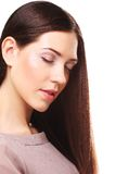 Beautiful woman with long hair groomed Stock Photography