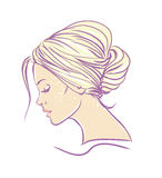 Beautiful woman with long hair illustration Royalty Free Stock Photos