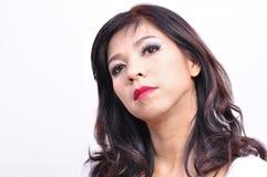 Beautiful woman long hair and makeup Stock Images