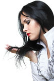 Beautiful woman with long hair Royalty Free Stock Photo
