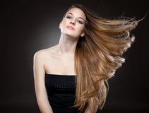 Beautiful woman with long hair Royalty Free Stock Photos