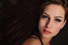 Beautiful woman with long hair Stock Photos