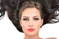 Beautiful woman with long hair Royalty Free Stock Photography
