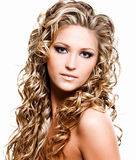 Beautiful woman with long hairs Royalty Free Stock Photos