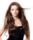 Beautiful woman with long hairs Stock Photos