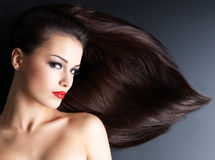 Beautiful woman with long hairs Royalty Free Stock Images
