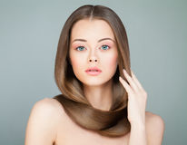 Beautiful Woman with Long Healthy Hair. Spa Model Royalty Free Stock Photography