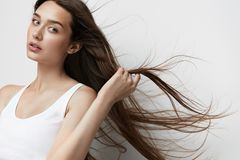 Beautiful Woman With Long Hair. Royalty Free Stock Image