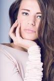 beautiful woman with long wavy hair. Royalty Free Stock Photos