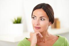 Beautiful woman looking away at indoors Stock Images