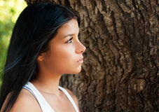 Beautiful woman looking away Stock Images