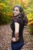 Beautiful Woman Looking Back Royalty Free Stock Image
