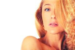 Beautiful woman looking Royalty Free Stock Photos