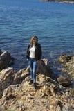 Beautiful Woman Portrait in Cunda Island,Turkey Royalty Free Stock Photo