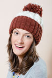 Beautiful woman looking at camera in knitwear Stock Image