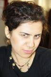 Beautiful woman is looking at camera Stock Photo