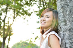 Beautiful woman looking into the distance Stock Image