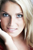 Beautiful woman looking intently at the camera Royalty Free Stock Photography