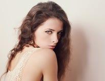 Beautiful Woman Looking Sexy. Closeup Art Royalty Free Stock Image