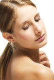 Beautiful woman looking to her shoulder Royalty Free Stock Images