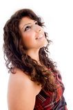 Beautiful woman looking upward Royalty Free Stock Images