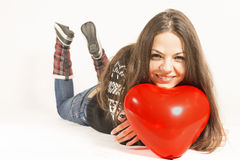 Beautiful woman in love Royalty Free Stock Images
