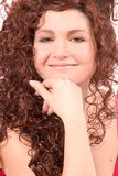 Beautiful woman with lovely smile royalty free stock photography