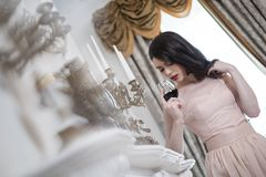 Beautiful woman in luxury interior Royalty Free Stock Images