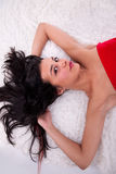 Beautiful woman lying Stock Photo