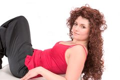 Beautiful woman lying Royalty Free Stock Photography