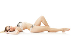 Beautiful woman lying down Royalty Free Stock Photo