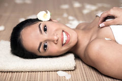 Beautiful woman lying down for spa Royalty Free Stock Photography