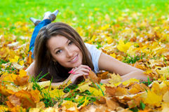 Free Beautiful Woman Lying In The Park Royalty Free Stock Photo - 6701465