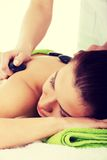Beautiful woman lying on spa salon. Royalty Free Stock Photo