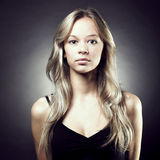 Beautiful woman with magnificent hair Royalty Free Stock Photography